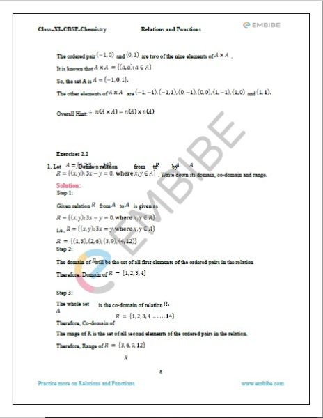 NCERT Solutions For Class 11 Maths Chapter 2 Exercise 2.2