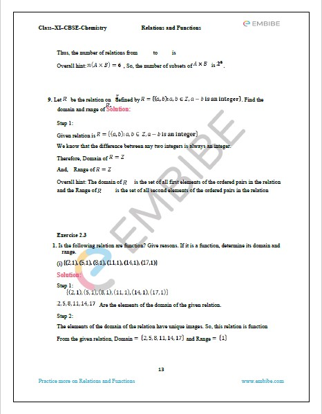 NCERT Solutions For Class 11 Maths Chapter 2 Exercise 2.3