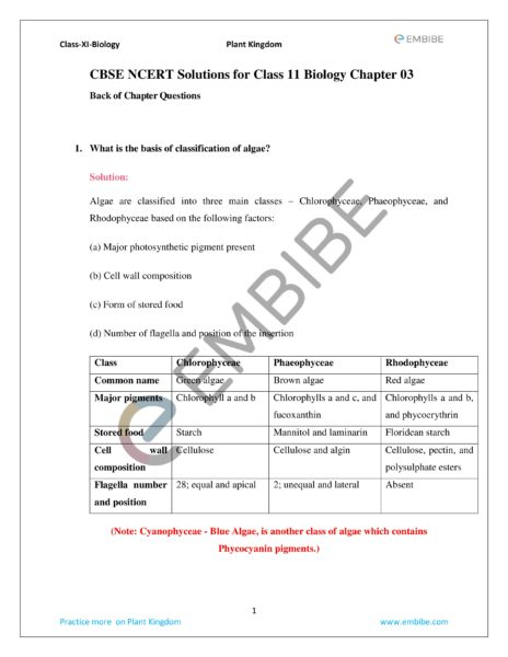 ncert solutions for class 11 biology chapter 3