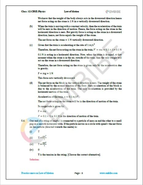 NCERT Solutions For Class 11 Physics Chapter 5 Question 4