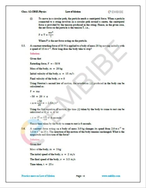 NCERT Solutions For Class 11 Physics Chapter 5 Question 5,6
