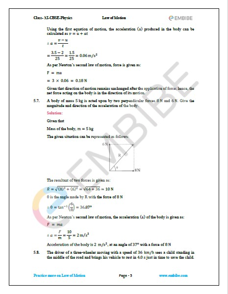 NCERT Solutions For Class 11 Physics Chapter 5 Question 7