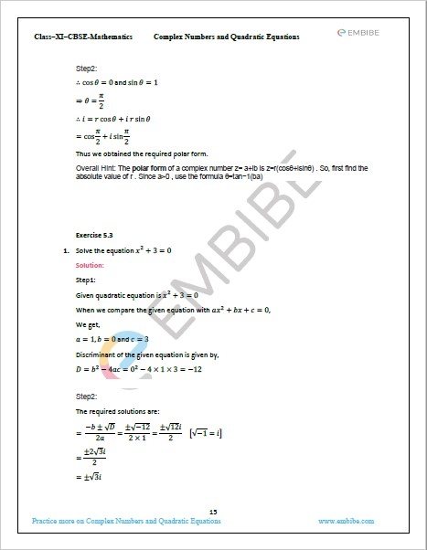 NCERT Solutions For Class 11 Maths Chapter 5 PDF Exercise 5.3