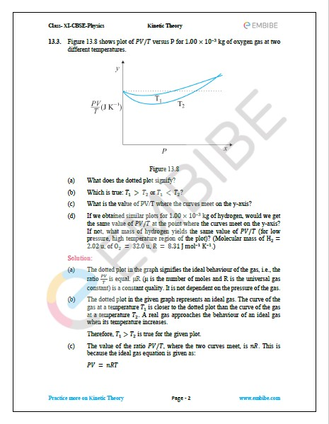 NCERT Solutions For Class 11 Physics Chapter 13 Question 3