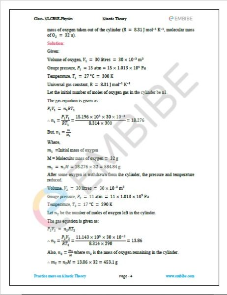 NCERT Solutions For Class 11 Physics Chapter 13 Question 13.4