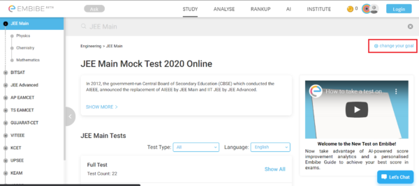 neet mock test embibe 6