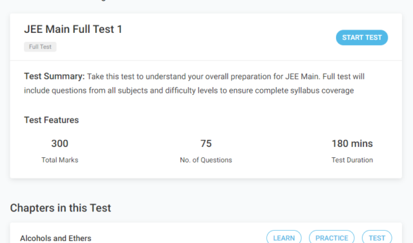 jee main mock test 1