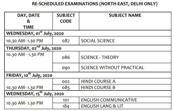 CBSE-Class-10-Datesheet-2020-official
