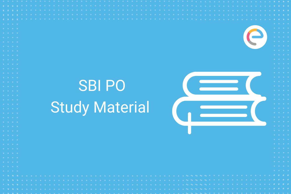 sbi po study material: Check