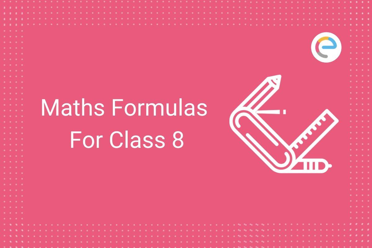 Maths Formulas For Class 8