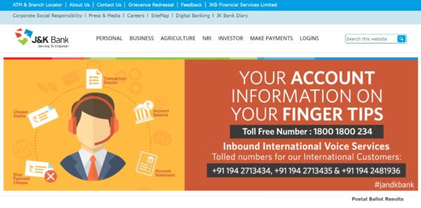 JK Bank Homepage