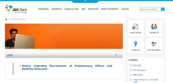 JK Bank Careers Page