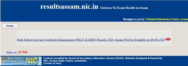 assam hslc ahm result