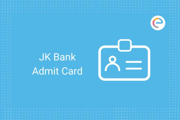 JK Bank Admit Card