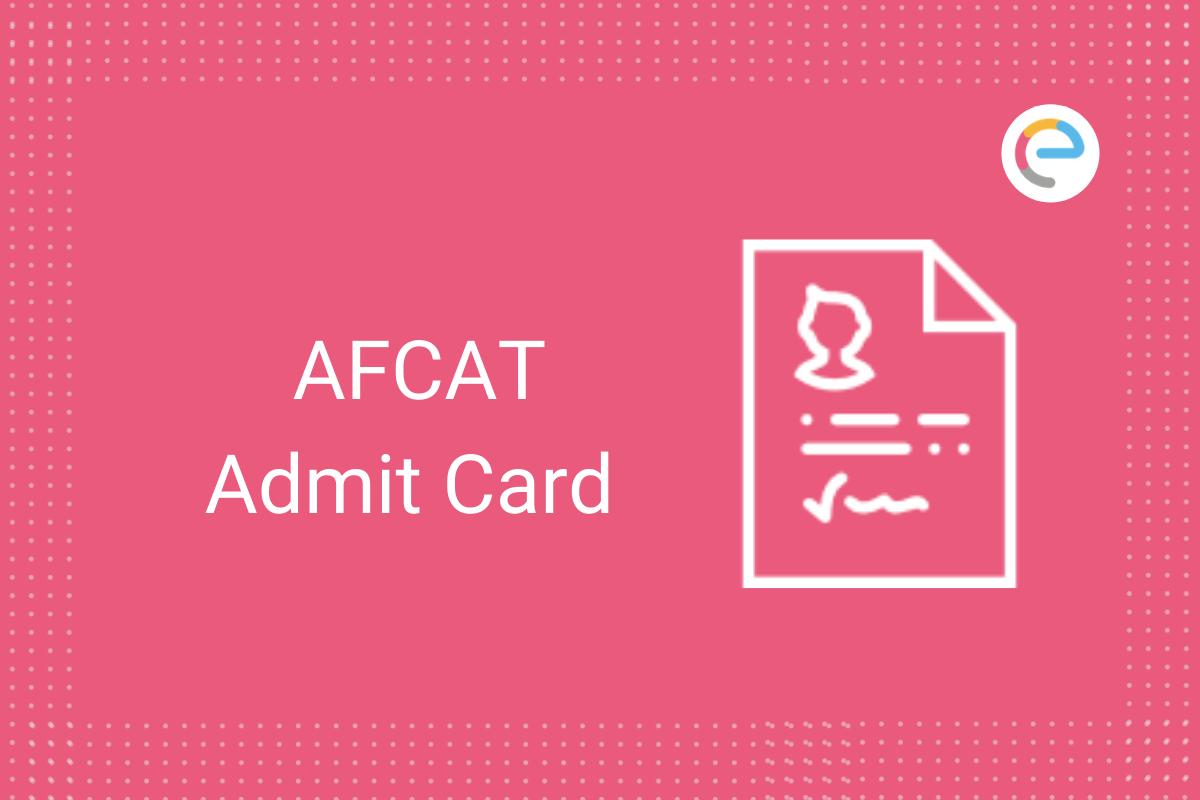 afcat admit card