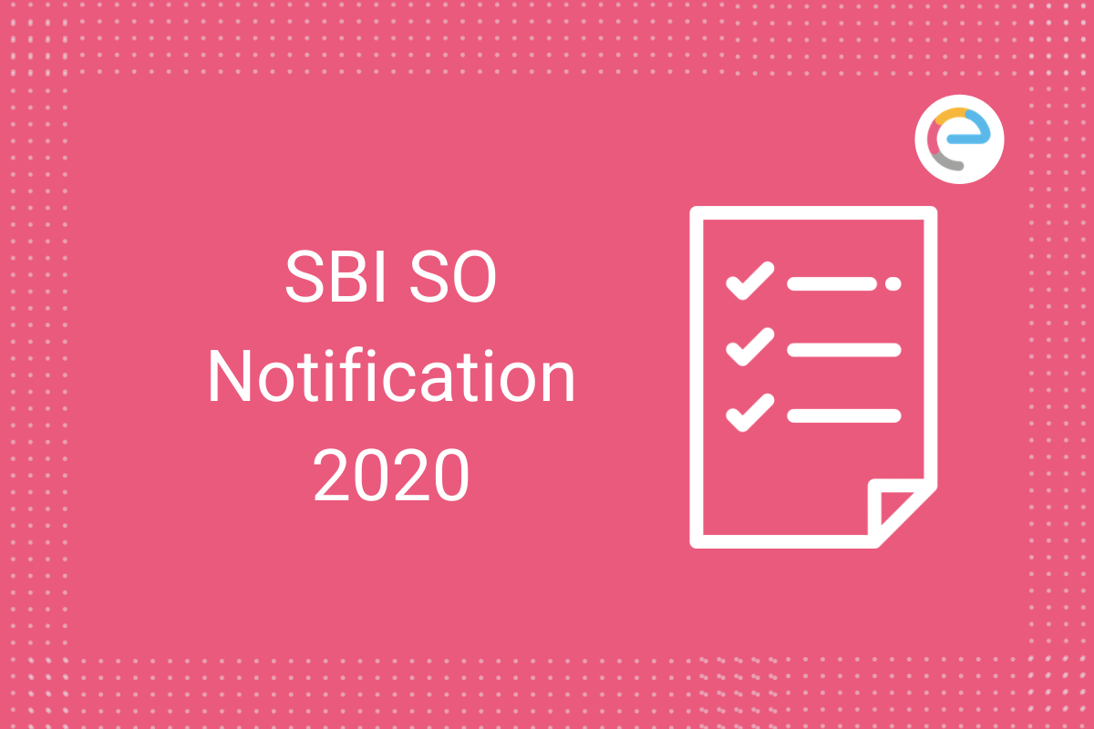 SBI SO Notification
