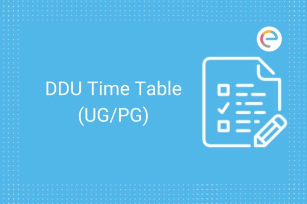 ddu time table