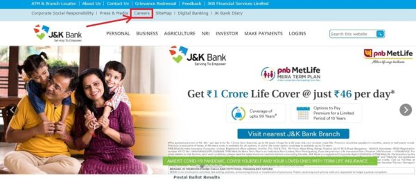 jk bank home page