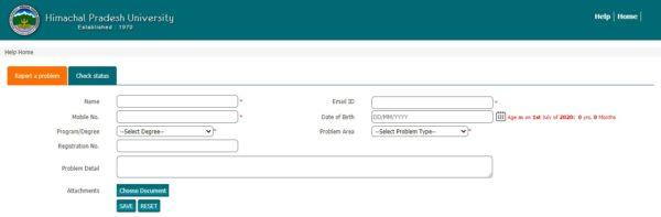 HPU Admit Card Status