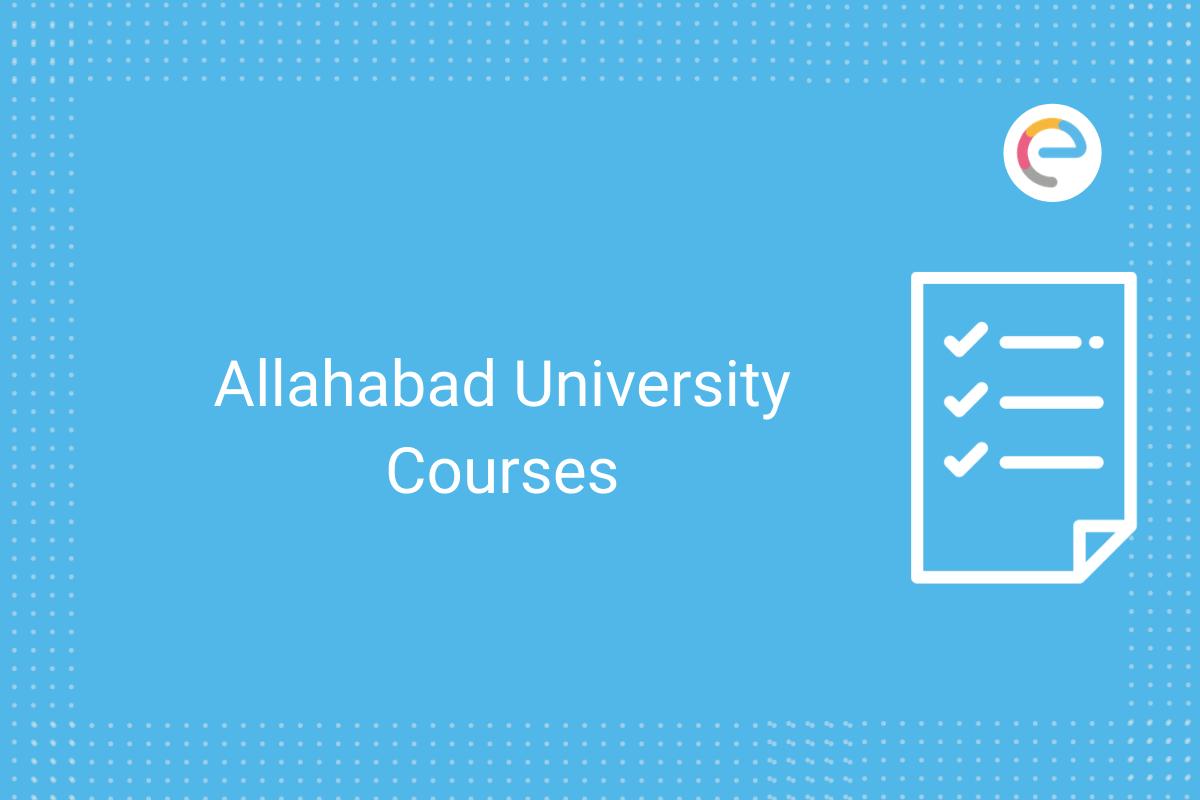 Allahabad University Courses