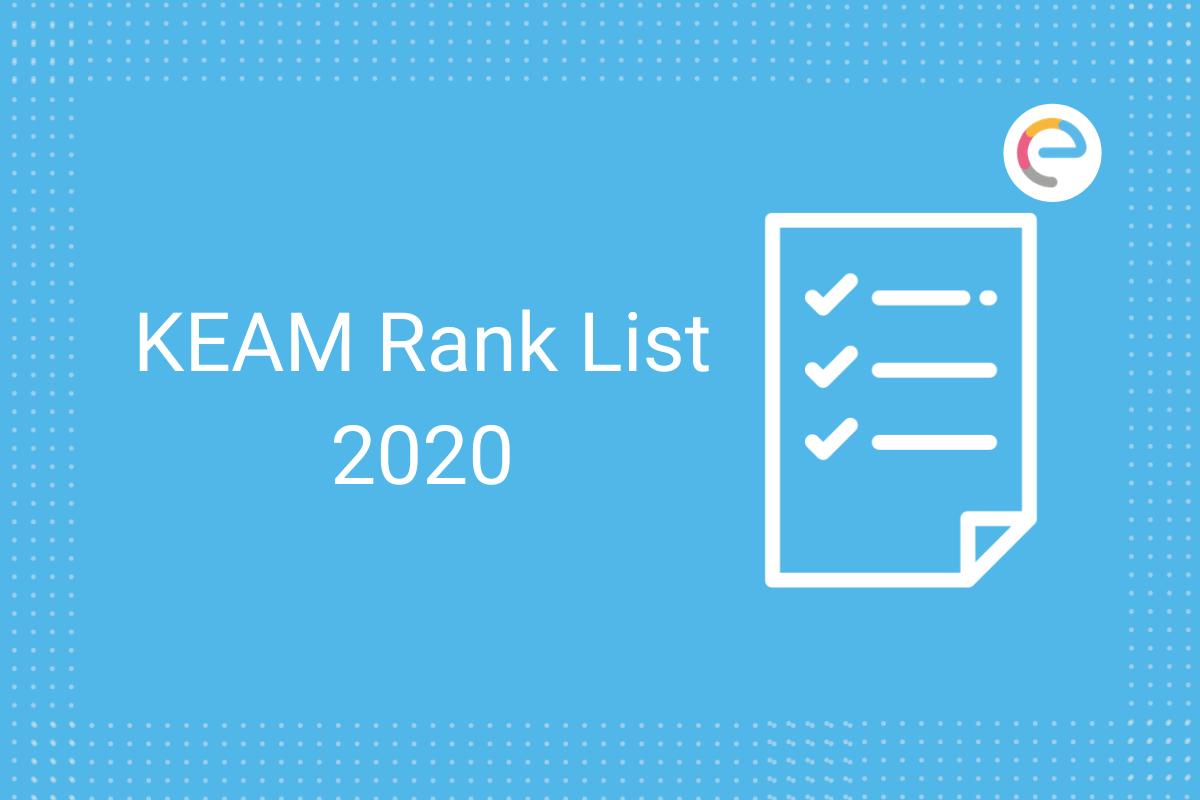 KEAM Rank List 2020