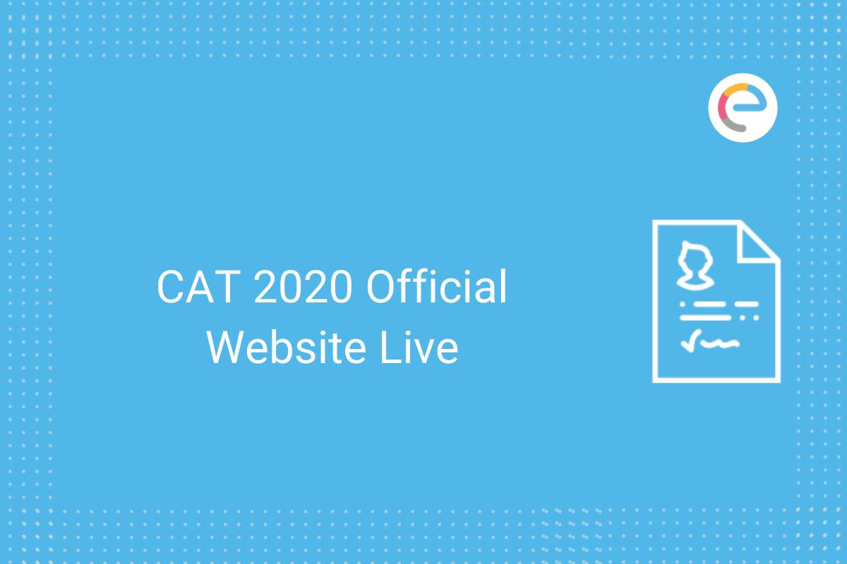 cat 2020 official website