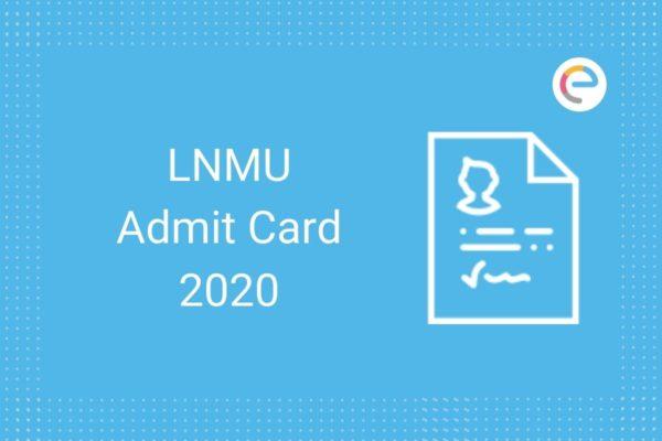 LNMU Admit Card