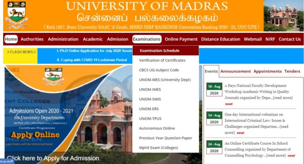 UOM Home Page