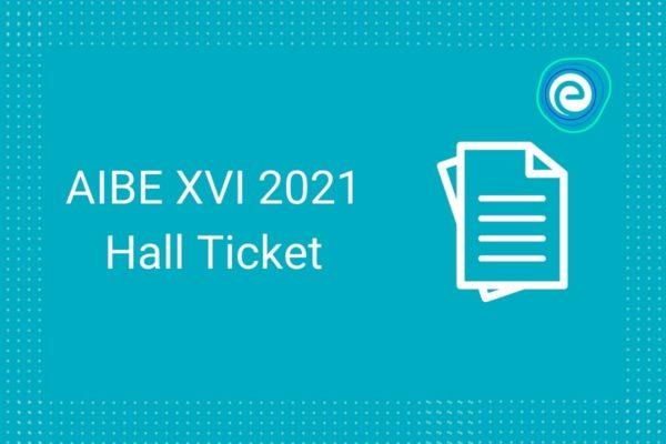 AIBE XVI Hall Ticket
