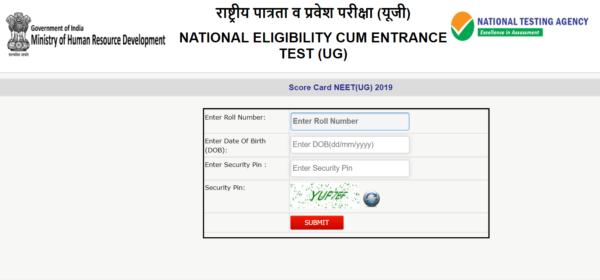 NEET Result Scorecard UG