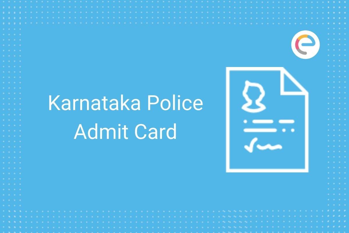 KSP Admit Card