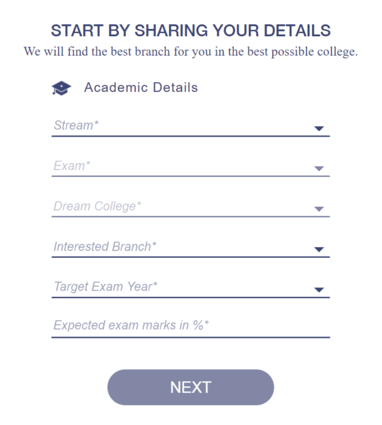 Academic Details Rank Predictor Tool