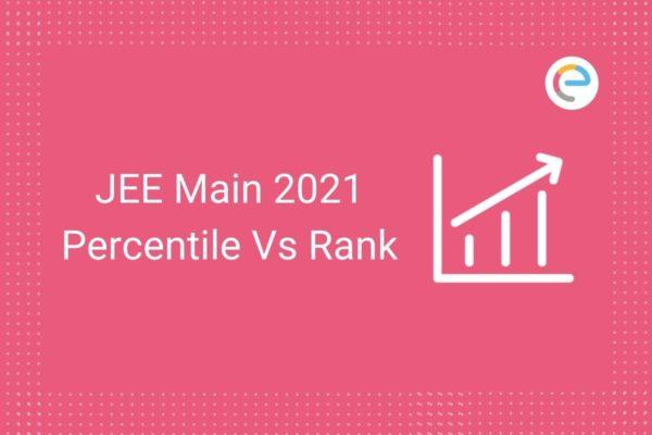 JEE Main Percentile Vs Rank 2021