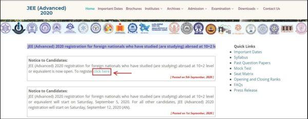 JEE-Advanced-Foreign-Nationals-Registration-Link