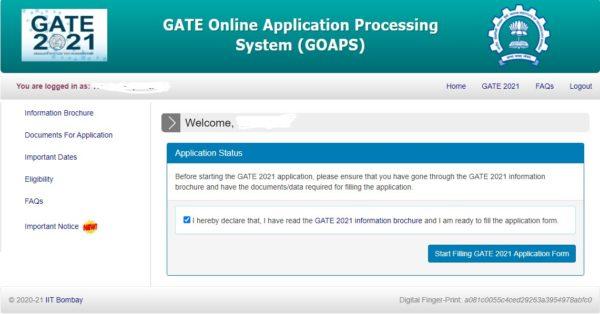 GATE 2021 Reg