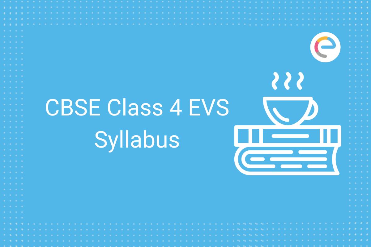 cbse class 4 evs syllabus
