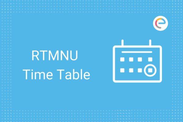 RTMNU Time Table