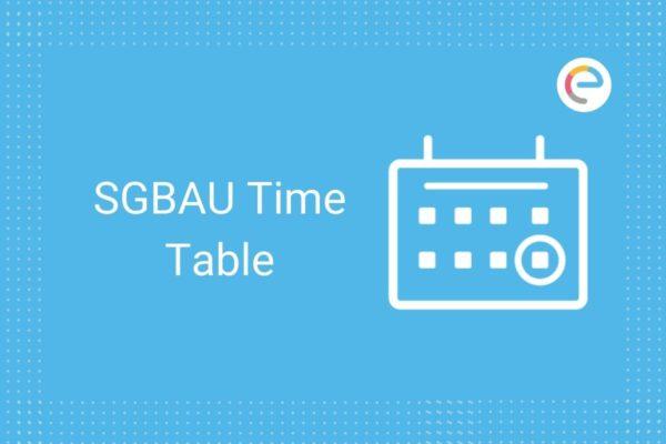 SGBAU Time Table
