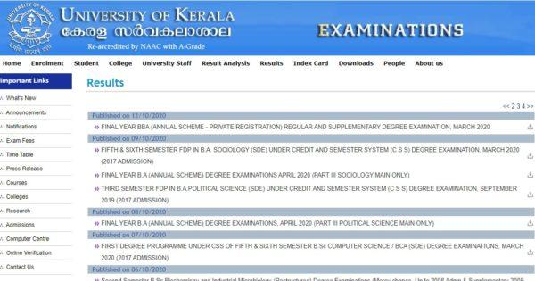KU Results Page