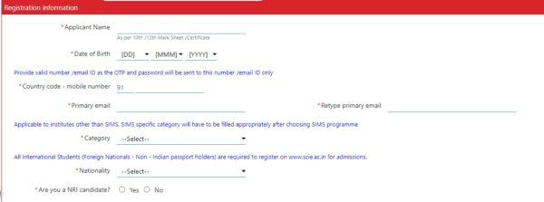 SNAP Registarion Information