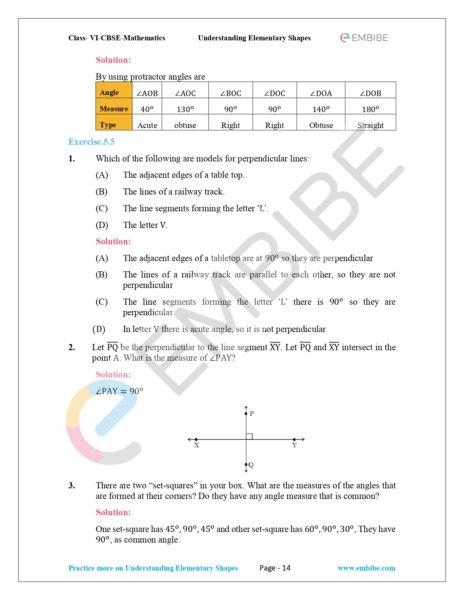 NCERT Solutions For Class 6 Maths Chapter 5