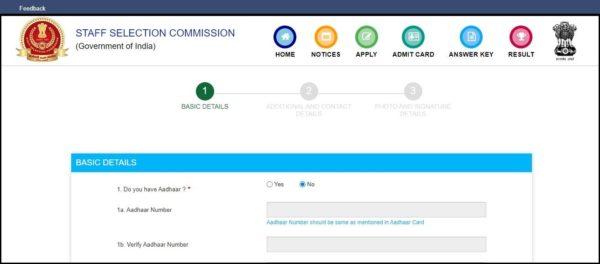 SSC CHSL Registration
