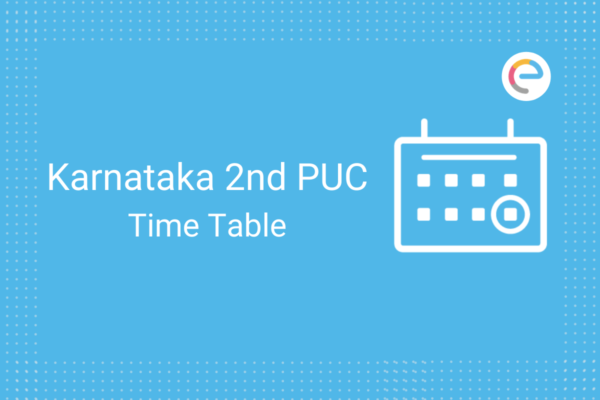 Karnataka 2nd PUC Time Table