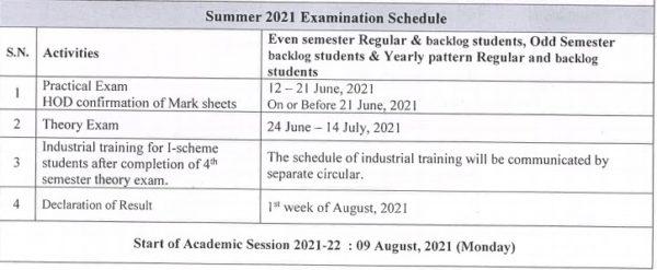 MSBTE Summer Exam Schedule