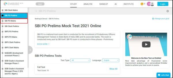 SBI-PO-Mock-Tests-Prelims-Main-Links
