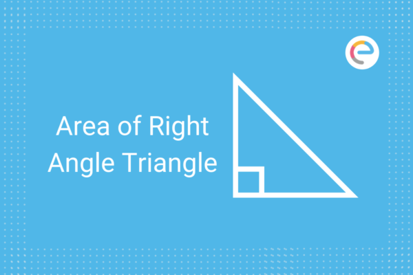 area of right angle triangle