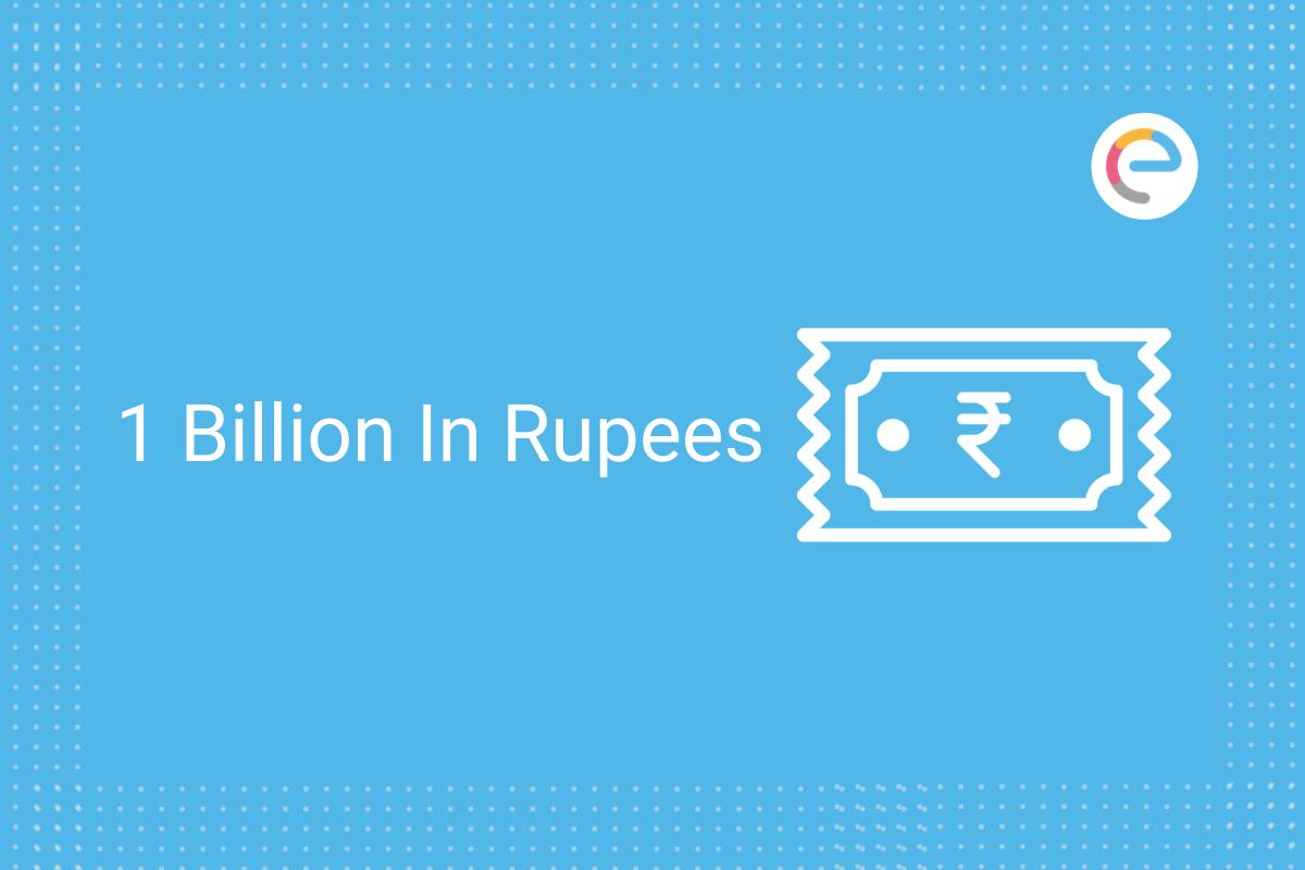 1 billion in rupees
