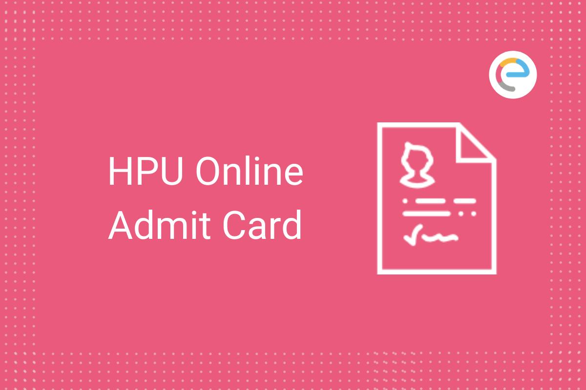 HPU Admit Card