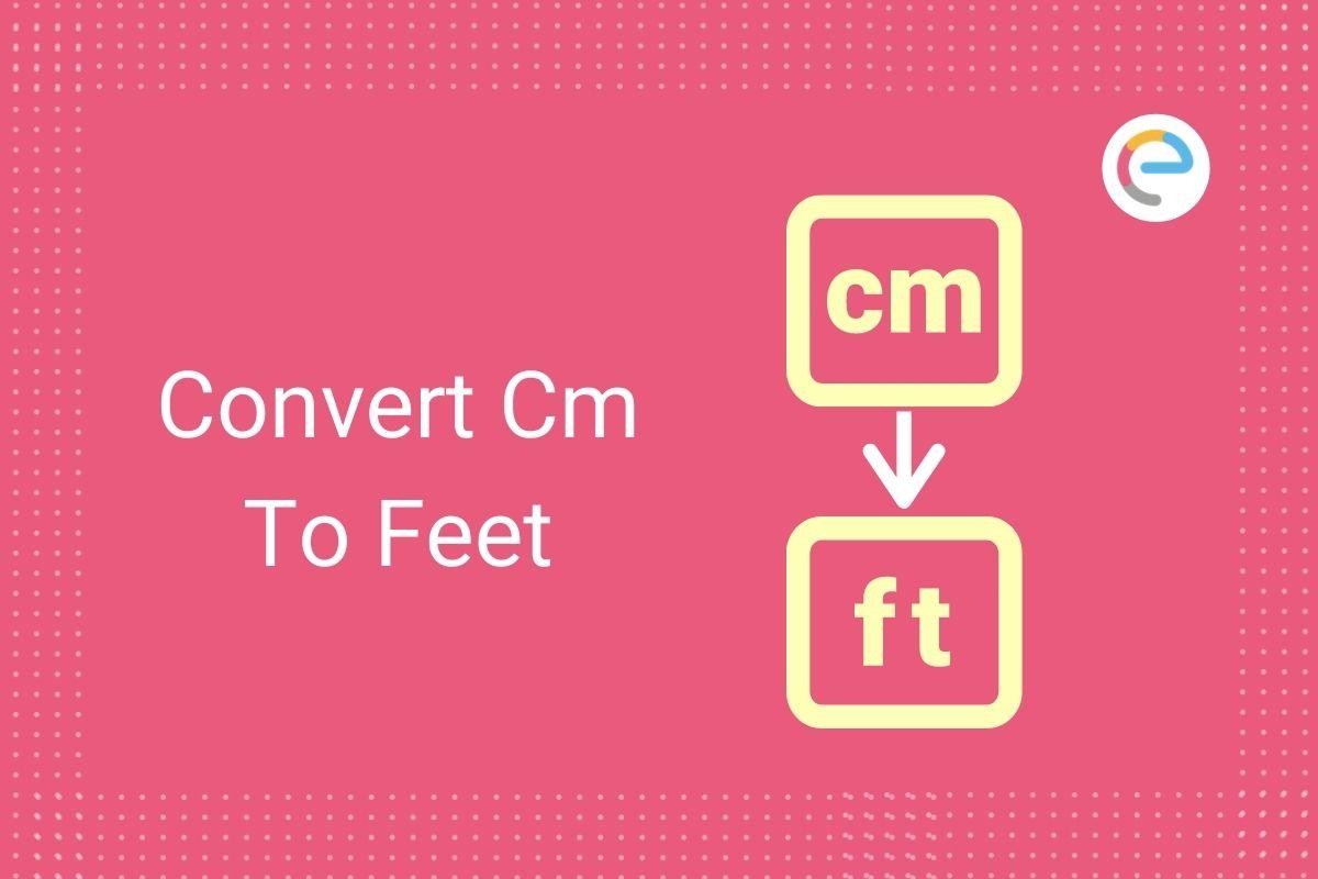 convert cm to feet