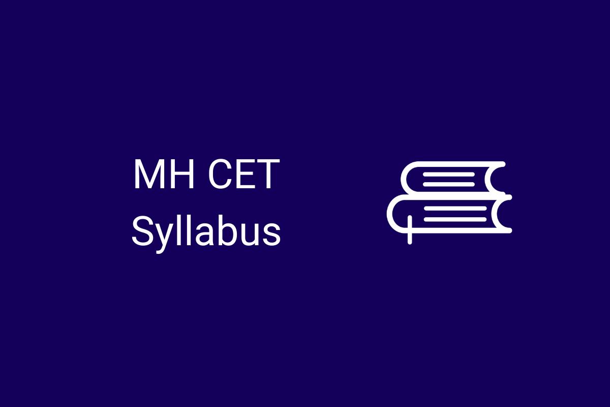 MH CET Syllabus